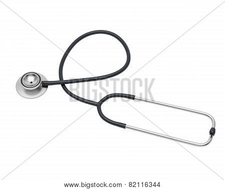 Medical Black Stethoscope.