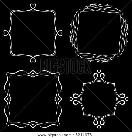 Set of nice decorative frames