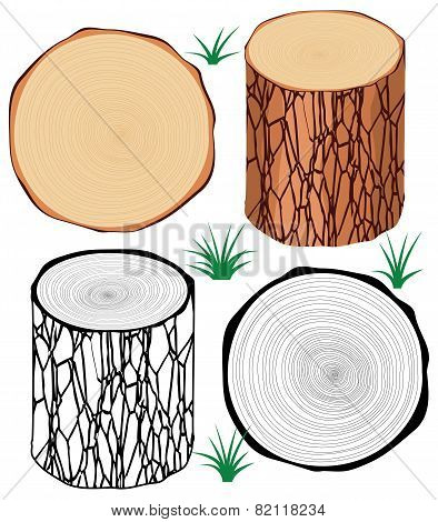 Vector Set Of Tree Logs