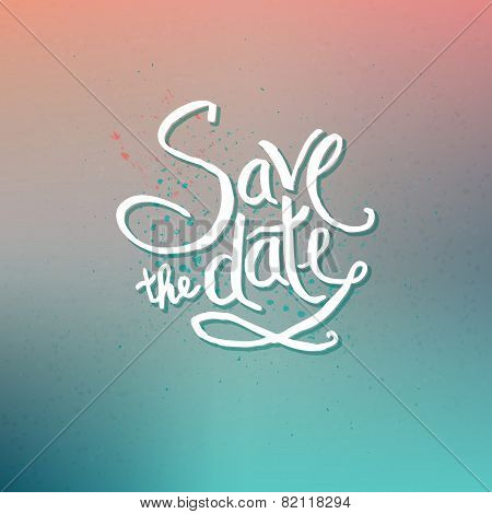 Save the Date Concept on Abstract Background