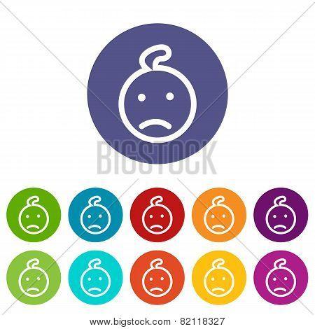 Kid flat icon