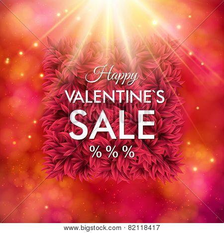 Dynamic Happy Valentines Sale design