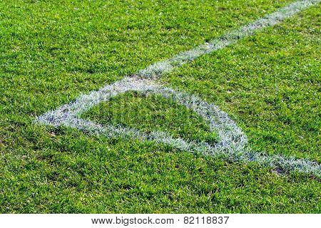 Corner Point On The Football Field Soccer