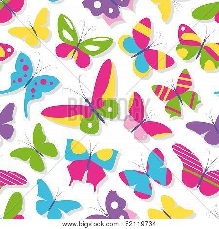 cute butterflies collection pattern