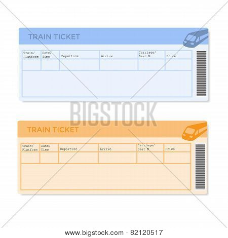 Train Tickets in Two Versions
