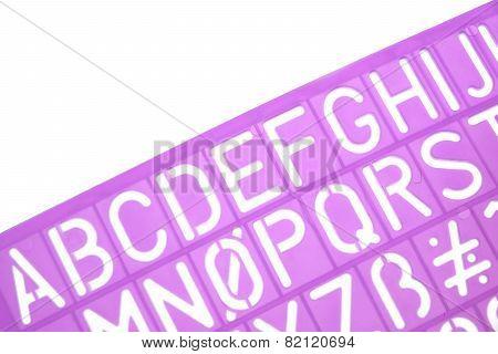 English Letters Plastic Stencils Alphabet