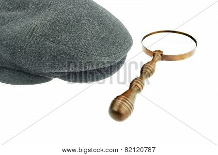 Warm Cap With Earflaps And Magnifying Glass
