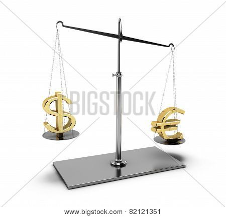 Balance With Euro And Dollar
