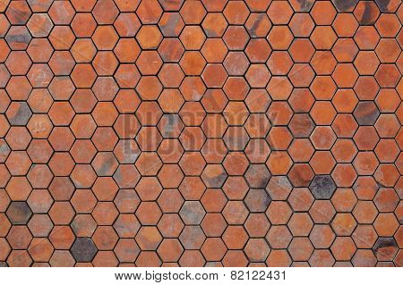 Octagon Red Brick Wall