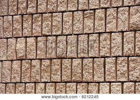 Corte total del bloque de la pared