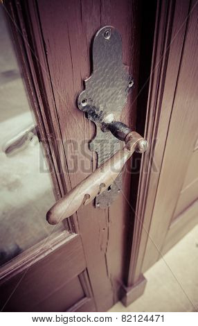 Brass Doors Handle Without Key