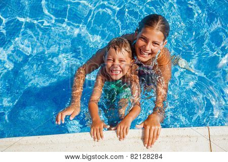 Kids in the pool
