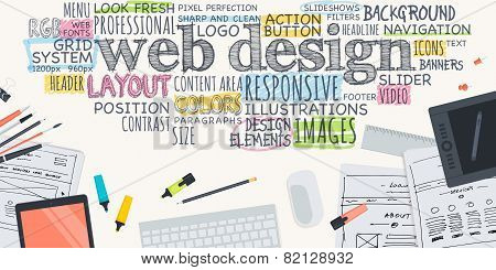 Flat Design Illustration Concept For Web Design Stock Images Page