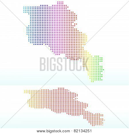Map Of Republic Of Armenia With With Dot Pattern