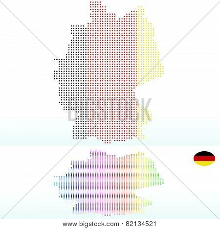 Map Of Federal Republic Of Germany With With Dot Pattern