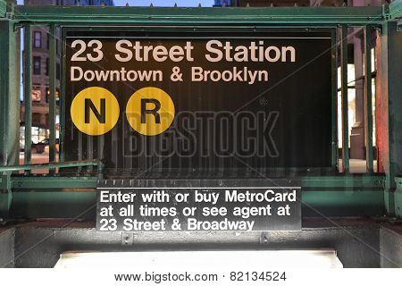 23Rd Street Subway Station, New York