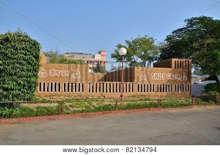 Jaipur, India - January 31, 2014: Indian People Visit Jawahar Kala Kendra