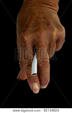 Smoking Causes Dysfunction And Smoking Causes Health Deterioration Concept