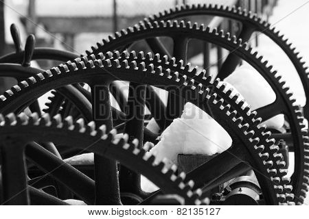 Gears In Snow