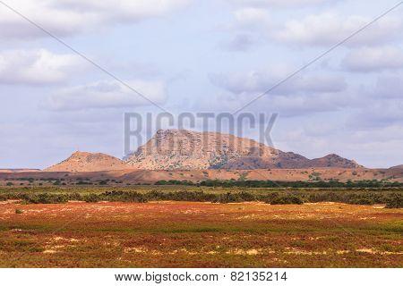 Mountains landscape in Boavista Cabo Verde - cape verde ** Note: Visible grain at 100%, best at smaller sizes