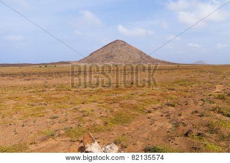Mountains landscape in Boavista Cabo Verde - cape verde