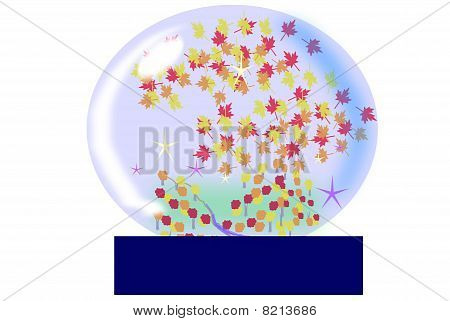 autumn water globe