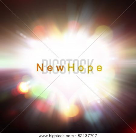Light Of New Hope Concept