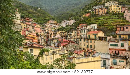 District In Riomaggiore - Cinque Terre,italy