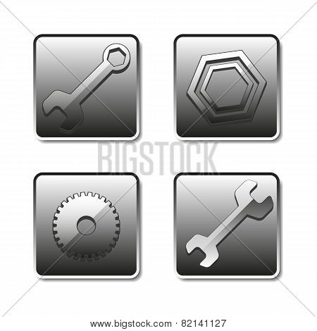 Icons Setting, Vector Illustration.