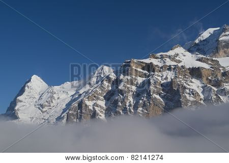 Eiger and Moench above the Clouds