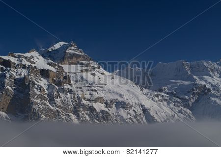 Jungfrau above the clouds
