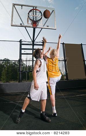 Shooting The Basketball
