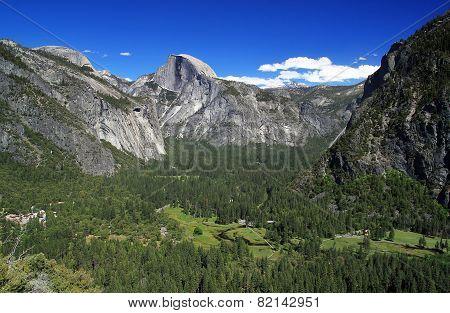 Yosemite Valley And Half Dome Mt.