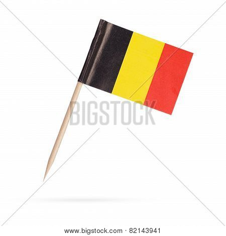 Miniature Flag Belgium.isolated On White Background