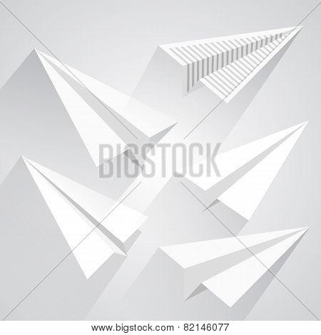 Paper airplane set