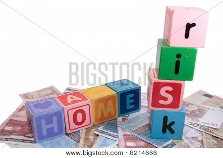Home Risk In Toy Play Block Letters