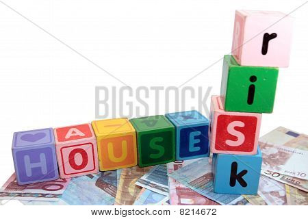 House Risk In Toy Play Block Letters