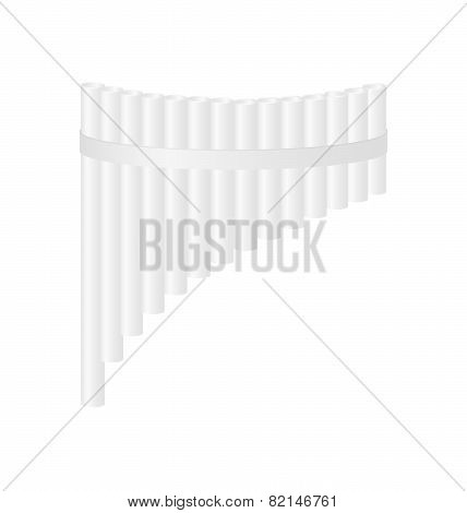 Pan flute in white design