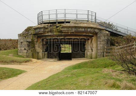 La Pointe Du Hoc In Criqueville Sur Mer In Normandie