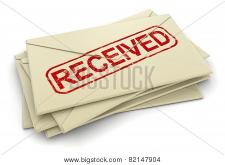 Received letters  (clipping path included)