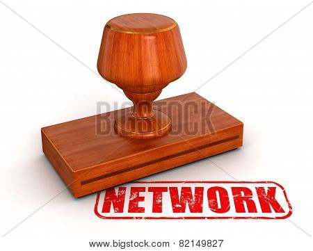 Rubber Stamp Network (clipping path included)