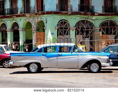 Old retro car in Havana,Cuba