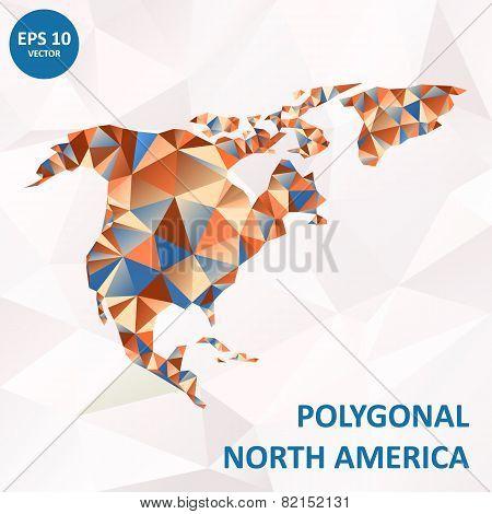 Vector poligonal North America