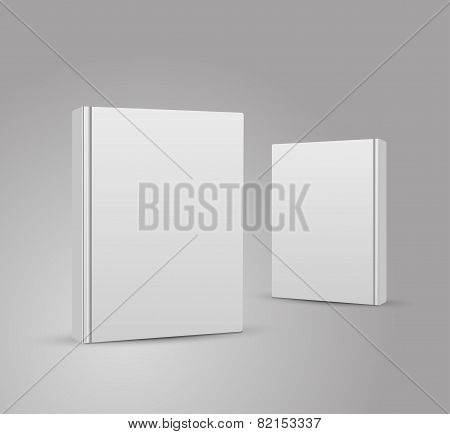Blank book cover vector illustration gradient mesh.