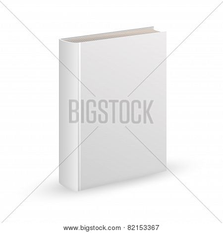 Blank book cover vector illustration gradient mesh. Isolated object for design