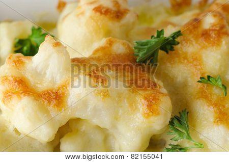 Cauliflower Cheese Close Up