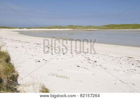 Beach At Machair Leathann