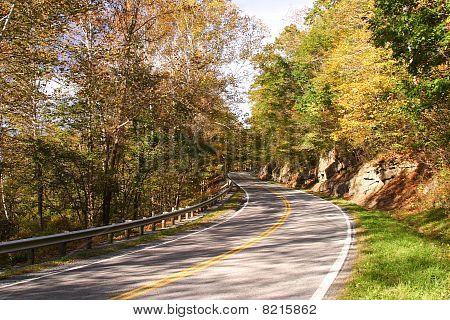 Fall Highway Scenic