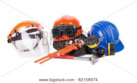 Plastic workbox with tools