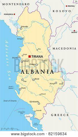 Albania Political Map